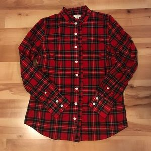 J.Crew Ruffle Tartan Shirt